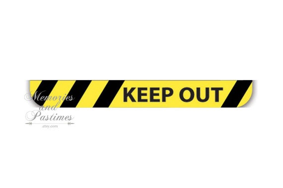 Keep Out Yellow & Black Washi Tape Tape by MemoriesandPastimes