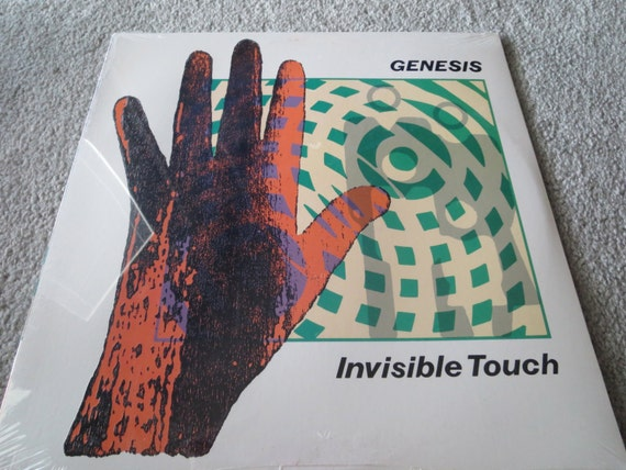 David Jones Personal Collection Record Album - Genesis - Invisible Touch (Sealed)