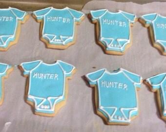 Baby onsie cookies