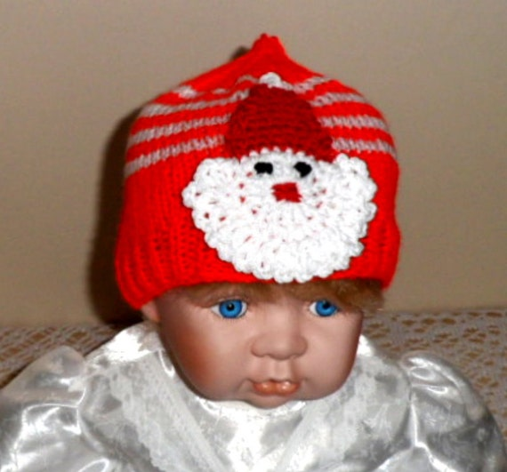 Knitting Patterns For Baby Christmas Hats images