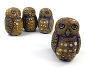Little Owl Light Pull, Cord Pull Novelty Animal Hand Crafted Original Toggle by Zoo Ceramics