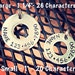 Stamped Upcycled Washer Pet Collar ID Tag - Dog Cat - Made To Order - Jewelry Keys Wallets Luggage Backpacks Gifts Etc