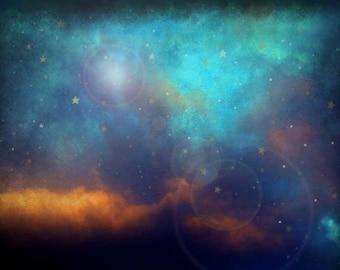 "Sky Photography, Cloud Photography, Starry Night Photo, Celestial Nursery, Celestial, Fine Art Photography, ""Starry Night"""