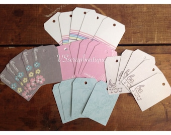RECOLLECTIONS  Simply Pastel Tags ~ 24 Craft Tags ~ Craft Embellishments