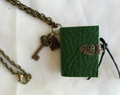 Book necklace, miniature book, book jewellery