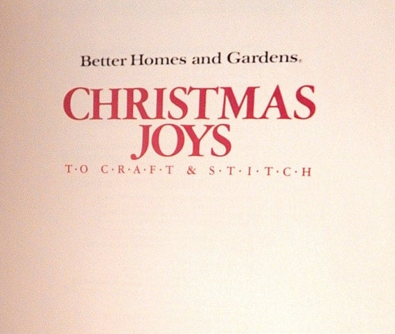 Better Homes And Gardens Christmas Joys To Craft Stitch