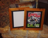Sports Illustrated magazine frame current size solid cedar matted oak finish country rustic display
