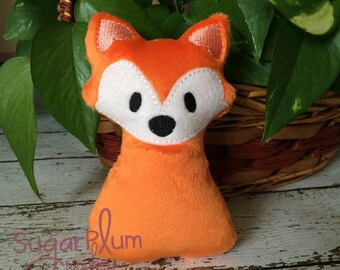 Stuffed Fox, Stuffed Toy, Woodland Birthday