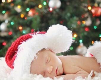 Newborn Santa Hat, Santa Hat Baby, Christmas Hat for Baby, Newborn Santa Prop, Baby Santa, Crochet Santa Hat, Crochet Santa Baby, Santa Hat