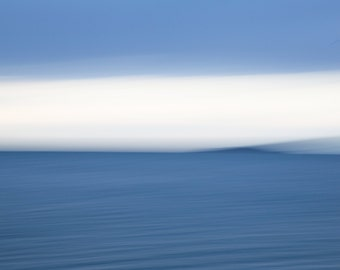 Ocean photography, blur, blue, white, sky, abstract, motion, surreal