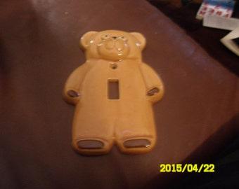 Vintage ceramic Teddy bear lightswitch cover