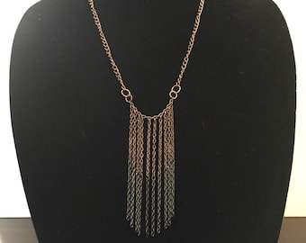 Two-tone Bronze chain necklace