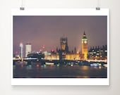 london photograph london print london decor england photograph night photograph river thames photograph big ben photograph english decor