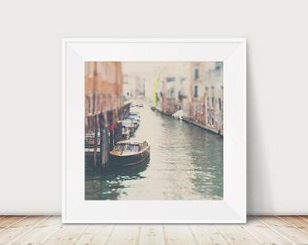 venice photograph boat photograph venice print venice decor italian decor italy photograph travel photography canal photograph