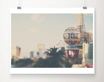 Las Vegas photograph travel photography las vegas print the strip photograph paris hotel photograph landscape photograph