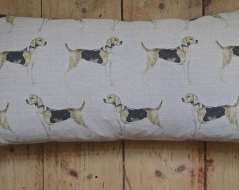 Foxhound cushion cover with big bobble trim