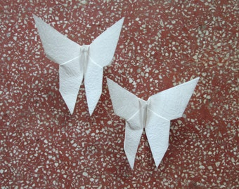100 Paper Origami Butterfly-Shiny Ivory Color, 5 x 5 inches (12.5 x 12.5 cm) only for  13.00 USD
