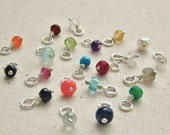 Add a Gemstone Dangle Personalize your Necklace - Sterling Silver Birthstone Charm - Choose One