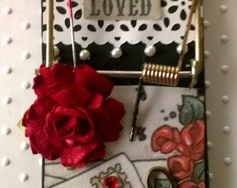 Altered Mouse Trap Note Holder (Loved)