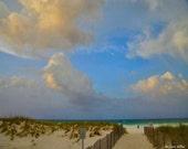 Walkway through the Dunes to the beach in Destin, Florida (16 x20 canvas)