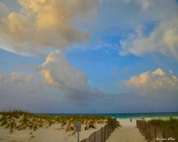 Walkway through the Dunes to the beach in Destin, Florida (canvas)