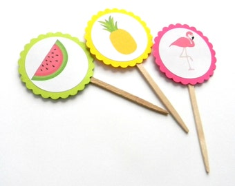 12 Summer Picks, Flamingo Theme, Pineapples, Watermelon Party, Pool Party, Flamingo Birthday, Baby Shower, First Birthday, Picnic Party