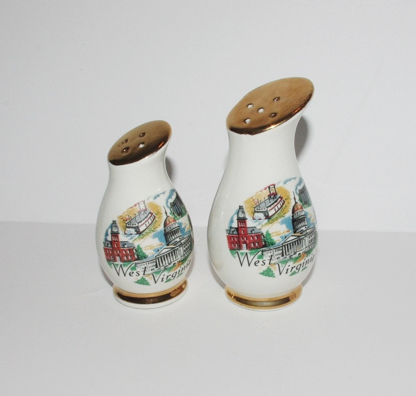 Wv Salt And Pepper Shakers