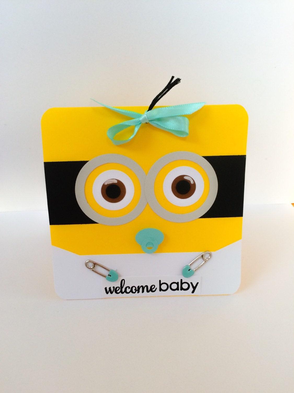 handmade minion baby card baby boy minion minion baby