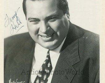 Tiny Hill jazz band orchestra leader vintage hand signed autographed photo