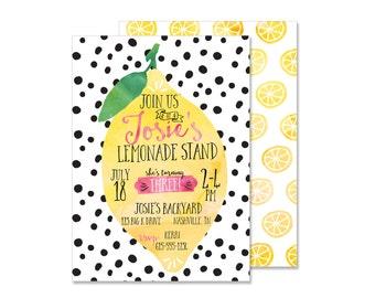 Lemonade Birthday Invitation - Digital File
