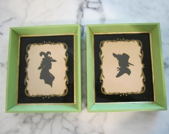 Pair of Framed Vintage Silhouettes