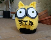 Kitty Minyon, Hand Knitted, Approx. 10- inches tall