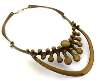 Vintage Rare Jack Boyd Bronze Modernist Necklace