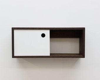 Floating Entry Shelf with Sliding Door