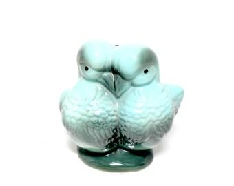Hull Planter, Hull Pottery Lovebirds Planter, Turquoise Gray, Lovebirds, Bird Planter, Hull Pottery
