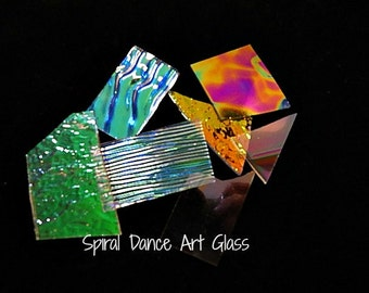 COE 96 CBS Dichroic Scrap Clear 4 oz (1/4 lb) Jewelers Variety Pack
