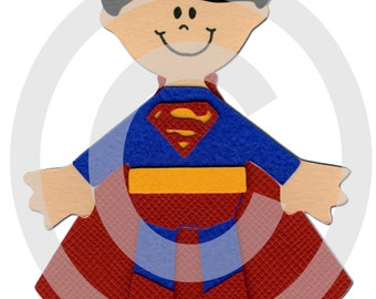 Superman Super Hero Scrapbook Die Cut Doll Superhero Project Life
