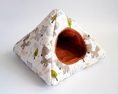cosy cuddle pyramid for guinea pigs (foxes/terracotta)