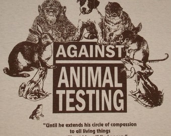 S - XL Against Animal Testing Rights T-Shirt