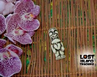 Mini War God Tiki Statue with Clear jewel from original Randotti mold #707