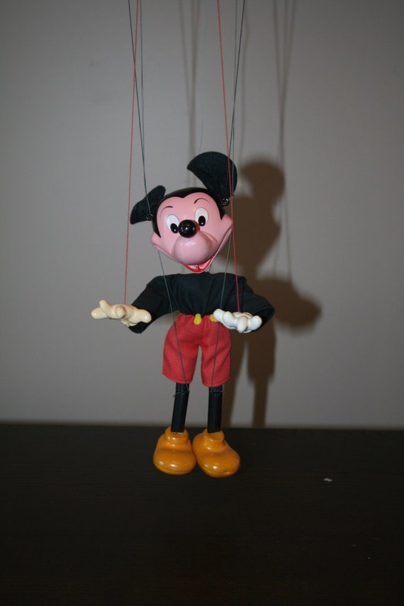 Vintage Mickey Mouse Marionette By Knicknackattack On Etsy