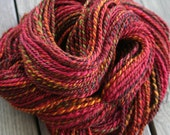 Reserved for Elisabeth T - handspun yarn BFL Tussah Silk 2ply worsted