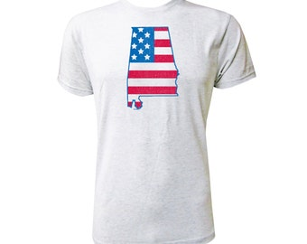 Alabama American Flag - NLA Heather White