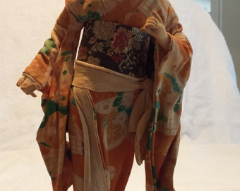 Japanese Geisha Doll on Stand