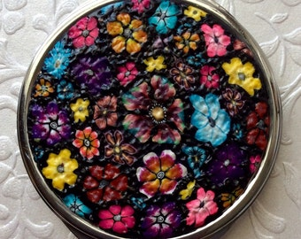 Polymer Clay Compact Mirror