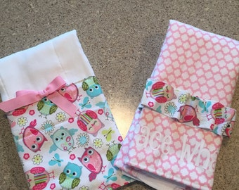 Customized Baby Burp Cloths