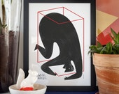 Polish Design. Illustration art giclée print signed by the artist. 30x40cm.