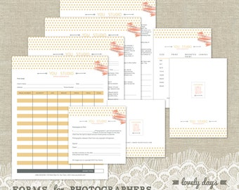 Photography Business Forms Templates Contracts INSTANT DOWNLOAD