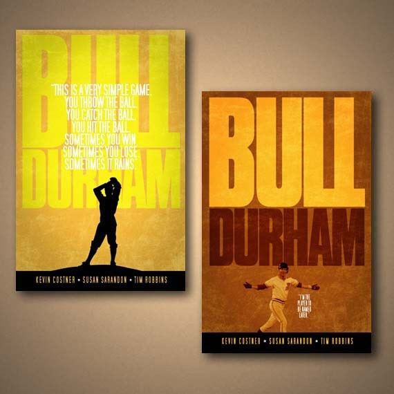 bull durham movie quote poster combo pack free shipping w