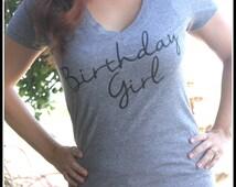 Birthday Girl Shirt, Birthday Shirt, Womens Birthday Girl Shirt, Birthday Girls T Shirt, Girls Top